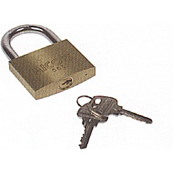 Double Locking Brass Padlock