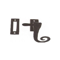 521 Curly Casement Fastener With Hook & Mortice Plate