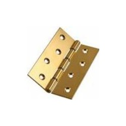 106 Double Steel Washered Brass Hinge - pair
