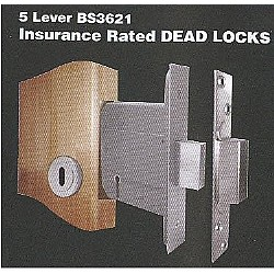 5 Lever BS3621 Insurance Rated Dead Locks